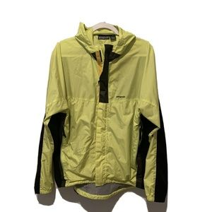 Patagonia Reflective Yellow and Black Windbreaker